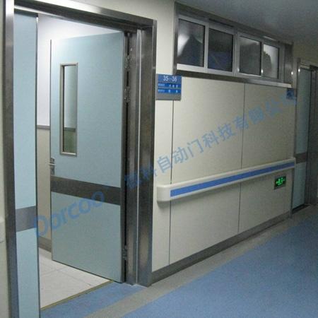 Stainless steel framed swing door