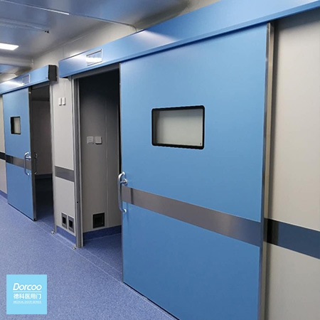 Automatic sliding hermetic door (surface mounting)
